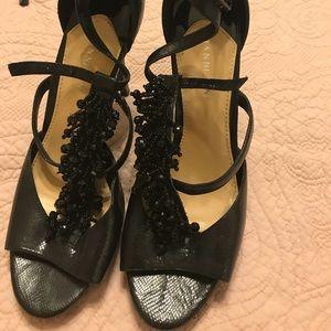Gianni BinI black heels! Beaded!!